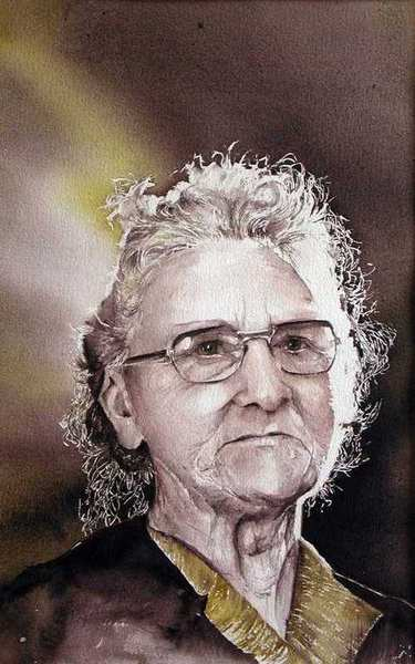 "l'aquarelle de ma grand-mère ""Julia"""