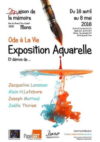 Exposition aquarelle à la Maison de la Mémoire