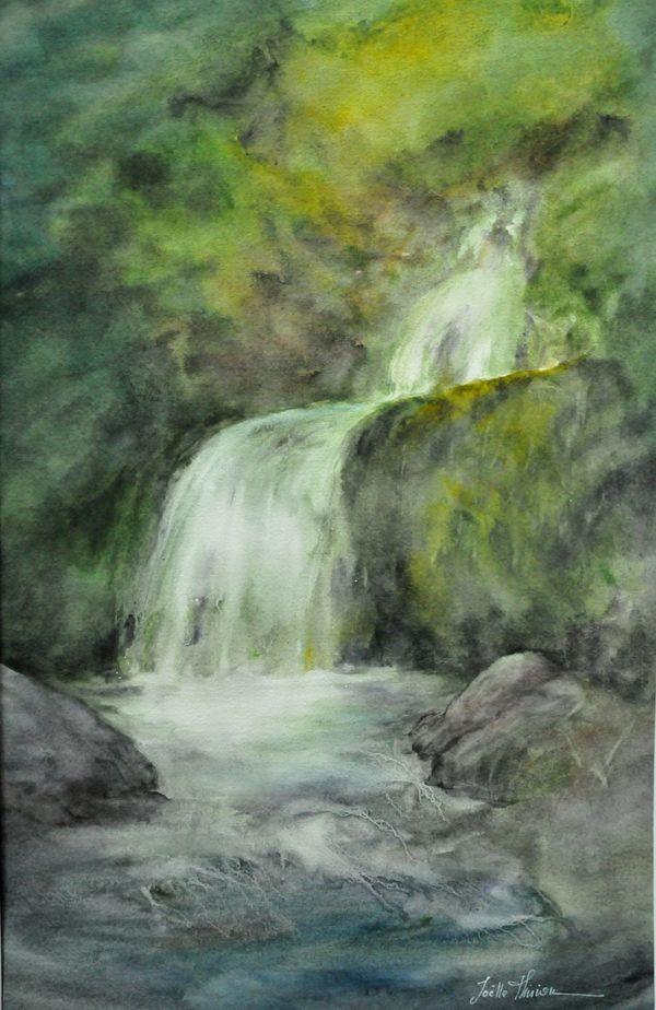 De Fil et d'eau - aquarelle 50x70