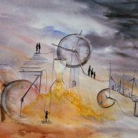 Les Portes du Temps - Aquarelle 50x70cm